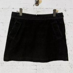 Club Monaco Corduroy Straight Mini Skirt